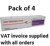 Paquete de 4 rollos de fax compatibles Brother PC-72 PC-74 PC-75 T72 T74 T76 T78 T82 T84 T86 T94 T96 T98 T104 T106 (no OEM)