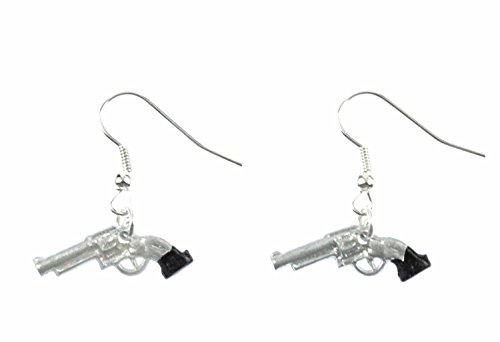 Revólver de la pistola del revólver Colt pendientes Miniblings vaquero Mini arma