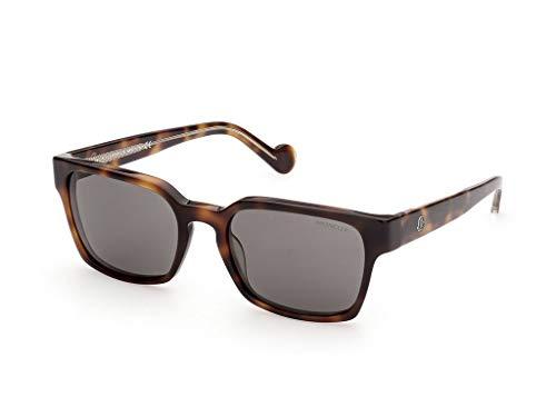 Moncler sonnenbrille ML0143 56A Havana rauchen größe 56 mm Mann