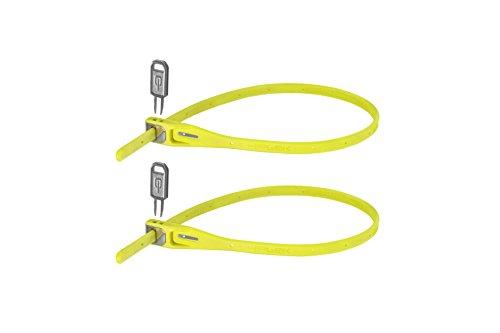Hiplok Z-Lok Stahlkern Kabelbinder-Schloss 2er pack , gelb (lime), Einheitsgröße