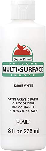 Apple Barrel Multi-Surface Paint in Assorted Colors (8 oz), White