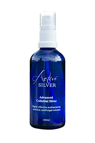 Kolloidales Silber 100ml Flasche mit Spray von Active Silver, 100% natürlich, Hohe Konzentration, kleinere Partikeln, höhere Wirksamkeit