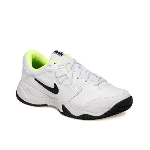 Nike Juniors` Court Lite 2 Tennis Shoes White and Black