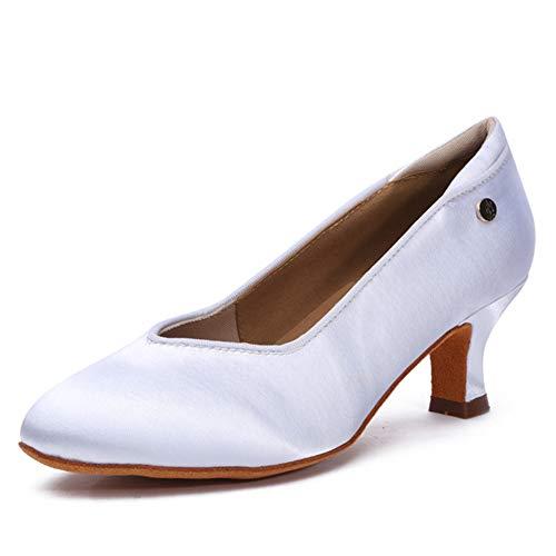 HROYL Zapatos de Baile Latino Mujer Salsa Profesional Tango Bachata Flamenco Zapatos...