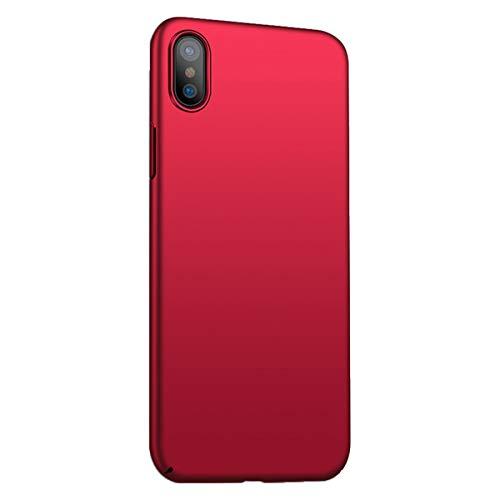 Funda iPhone X/XS/XS MAX Ultra Fina Case Ligera Flexible PC Protección Cáscara Ultra-Delgado, Anti-Rasguño, Anti-Golpes, Anti-Estático, Cover teléfono Caso (iPhone XS MAX, Rojo)