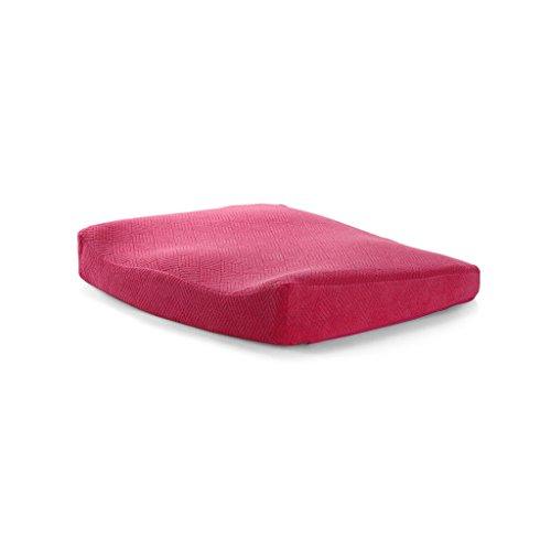RFJJAL Cojín heces cojín cojín de la Silla de Oficina, relajan los músculos del Muslo, de Espuma de Memoria Asiento de Coche Silla de Oficina cojín de Espesor (Color : Rose Red)