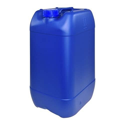 Bidón Garrafa Plástico 25 litros Azul apilable. Apta para uso alimentario. Homologación para transporte. (1 Unidad).