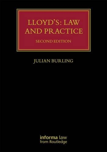 Lloyd's: Law and Practice (Lloyd's Insurance Law Library)