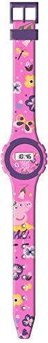 Kids Licensing |Reloj Digital para Niños | Reloj Peppa Pig |Diseño Estampado |Reloj Infantil Resistente | Reloj de Pulsera Infantil Ajustable| Bisel Reforzado | Reloj de Aprendizaje | Licencia Oficial