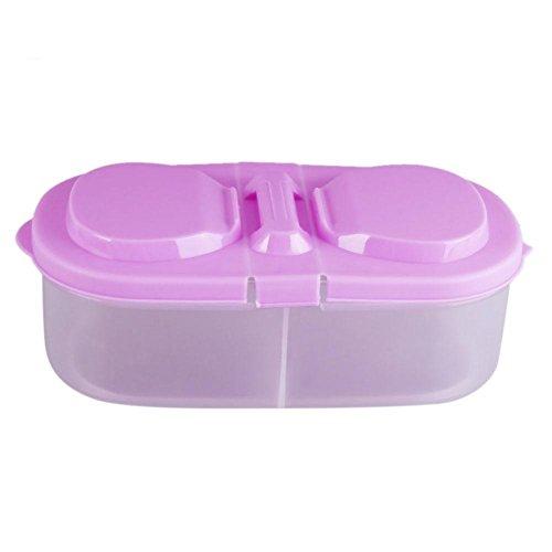 Preisvergleich Produktbild matefield 2 Grid Futter Aufbewahrungsbox Mutter Cosmetics Stationery Halter HOME Organizer violett