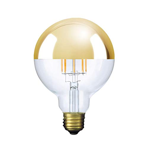 ビートソニック OnlyOne(オンリーワン) LED電球 ボール電球形 Ball95(ボール95 Tミラーゴールド) G95(外径95mm) 40W形相当 暖系電球色(2200K) E26口金 5.5W LDF35