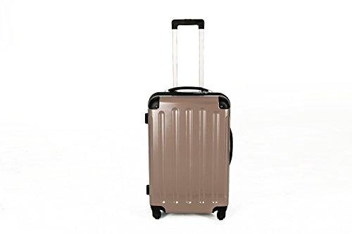 2-tlg. Hartschalen-Kofferset aus Polycarbonat GOLD L + M