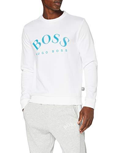 BOSS Herren Salbo Sweatshirt, White, XL
