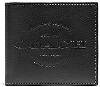 Coach Double Billfold Wallet Black F24647
