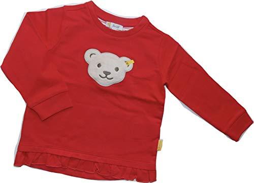 Steiff Baby-Mädchen Sweatshirt, Rot (Tango Red 4008), 98 (Herstellergröße: 098)