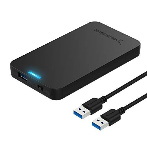 Sabrent Festplatten - Zubehör Gehäuse Werkzeugloses 2.5-Zoll SATA auf USB 3.0 externes Festplattengehäuse [Optimiert für SSD, Unterstützt UASP SATA III] Schwarz (EC-UASP)