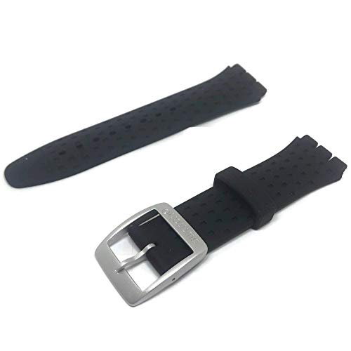 Authentic Swatch Watch Strap Irony Soft Silicone Nero Wildly 19mm