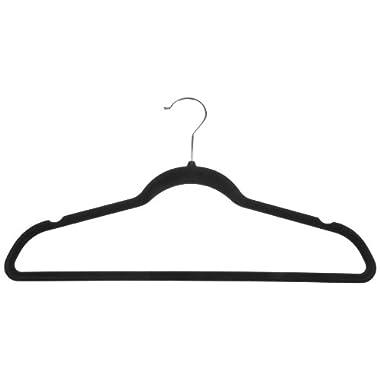 AmazonBasics Velvet Suit Hangers - 50-Pack, Black