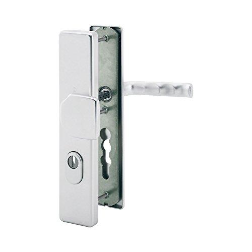 HOPPE Haustür Eingangstür Wechselgarnitur LONDON - Ö-Norm Entfernung 88mm, silber eloxiert, Langschild Profilzylinder für Türstärke 42-47mm, mit Kernziehschutz, Prüfung: RC2 nach EN 1906, 1 Stück Sicherheitsbeschlag