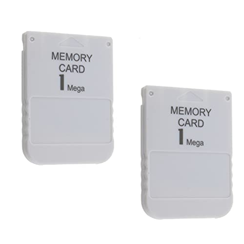 2X Memory Card 1 MB für Playstation 1 PSX PSOne PS1 1MB Speicherkarte 2er-Set