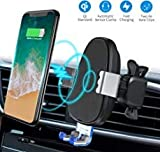 Wireless Car Charger Mount,BESWILL Wireless Phone Mount Qi 10W/7.5W Fast Charging Automatic Clamping Air Vent Phone Holder Compatible for iPhone Xs/XS Max/XR/X/8/8p, Samsung Galaxy S10/S9/S8/S8+