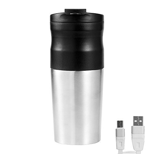 Travel Electric Coffee Grinder Maker, Stainless Steel Grinding Cup with Ceramic Blade - Portable Rechargeable Wireless - Battery Operated Burr Grinder Automatic Coffee Maker for Home,Office