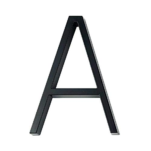 N\C 125 Mm Letra De Número De Casa Flotante Letra De Puerta Grande Y Moderna Casa Al Aire Libre 5 Pulgadas Número Negro Etiqueta De Dirección Signo De Barra Diagonal # 0-9 A