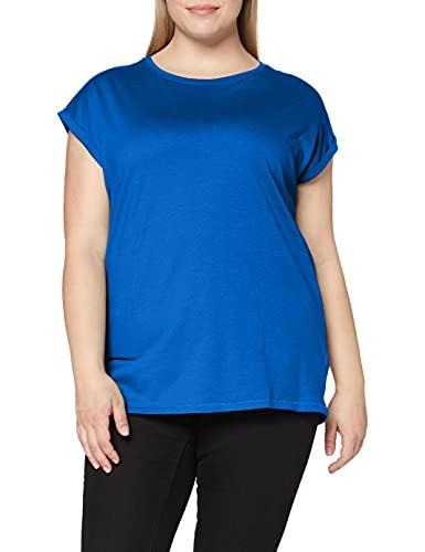 Urban Classics Ladies Extended Shoulder Tee Maglietta a Maniche Corte, T-Shirt Oversize con Spalle Scoperte, 100% Cotone Jersey, Abbigliamento Casual, brightblue, XS Donna