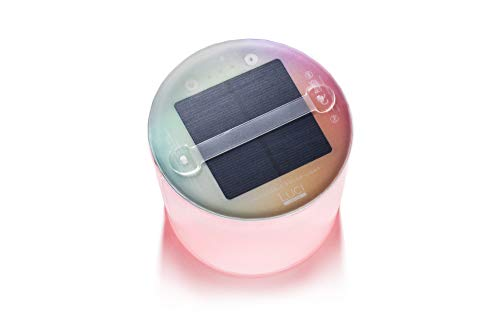 """MPOWERD Luci Color Essence: Solar Inflatable Light with 8 Colors + Color Cycle to Set the Mood, Last 8 Hours, Matte Finish, No Batteries Needed, Waterproof, 5"""" D x 4.25"""" H when inflated"""