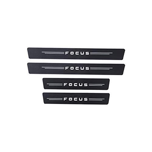 yhfhaoop Fibra de Carbono 4PCS Accesorios para automóviles Pegatina Puerta Placa de alféizar para Ford Focus 2 3 MK1 MK2 MK3 MK4 Vignale St-Line hnyhf (Color Name : For Focus)