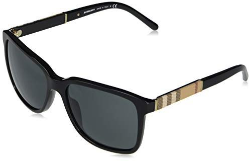 Burberry BE4181 300187 58M Black/Grey Square Sunglasses For Men+FREE Complimentary Eyewear Care Kit