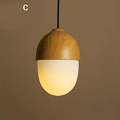 Enig hoofd houten kroonluchter, Houten Pendant Lamp Creative Simple Planken E27 Kroonluchter glazen balkon woonkamer eetzaal hal kroonluchter