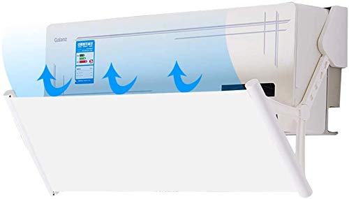 Deflettore Condizionatore & Aria Condizionata Vento Deflettore,180 Gradi Regolabile,Lunghezza Regolabile (Bianca)
