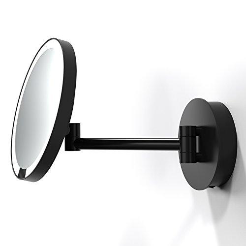 Decor Walther - Just Look WD Wandkosmetikspiegel Schwarz Matt, Direktanschluss, mit Sensortechnologie
