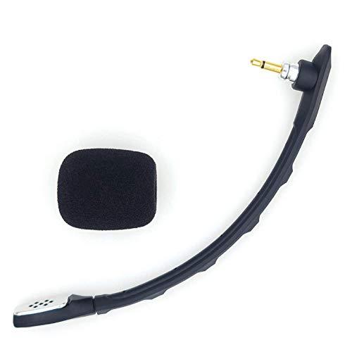 sciuU Micrófono Boom Mic compatible con ASTRO Gaming A40 TR Auriculares Alámbricos, A40 ASTRO Audio V2 para PS4 XBox Nintendo Switch Computer PC, Conector de Cancelación de Ruido de 3,5 mm