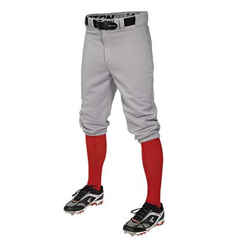 EASTON PRO+ KNICKER Baseball Pant, Youth, Large, Grey