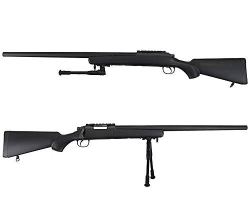 W E L L Fucile Softair A Molla Sniper VSR10 Nero 0.9 Joule - MB03A