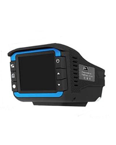 ACD Cámara de Coche Video 2In1 HD 720P Detector de DVR de Coche Cámara Grabadora de vídeo Detector de Velocidad láser con Sensor G(Color:None)