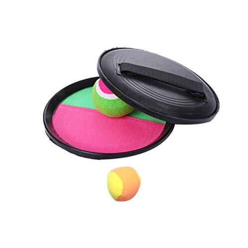 1 juego / 4 piezas de pelota para lanzar y atrapar, accesorios interactivos para padres e hijos, juguete al aire libre para niños (2 tablas de captura negras y 2 bolas suaves de colores aleatorios)