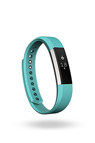 Fitbit Alta Fitness Tracker, Silver/Teal, Small (5.5 - 6.7 Inch) (US Version)