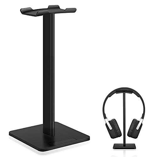Universal Kopfhörer Ständer, shumeifang Headset Halterung für Alle Kopfhörer Aluminium-Legierung + TPU + ABS Headset Ständer, Schwarz