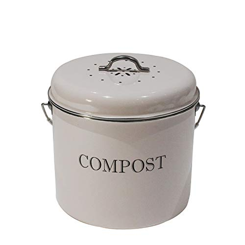 Great Features Of 4W Kitchen Compost Bin, 1.3 Gallon Indoor Compost Bin for Kitchen Counter, Great f...