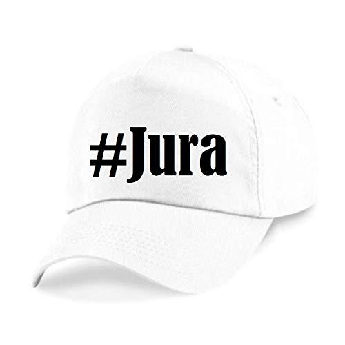 Reifen-Markt Base Cap Hashtag #Jura Größe Uni Farbe Weiss Druck Schwarz
