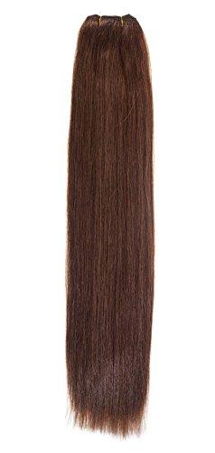 Euro soyeux tissage | Extensions de cheveux humains | 45,7 cm | Rouge foncé tête (33) American Pride