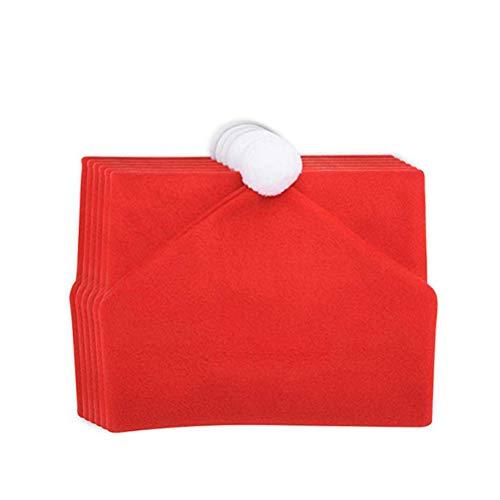 yiyiter Kerstman eetkamerstoel beschermhoes stoelhoezen afdekking rood voor decoratie 6 stuks