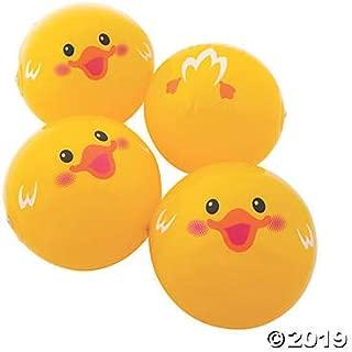 Fun Express Duck Beach Balls (12 Pieces) Yellow - 11 Inch