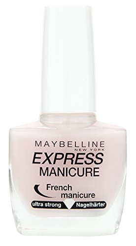 Maybelline New York Make-Up Nailpolish Express Manicure Nagellack French Manicure Rosé / Nagelhärter für gestärkte Nägel in natürlichem French Look, 1 x 10 ml