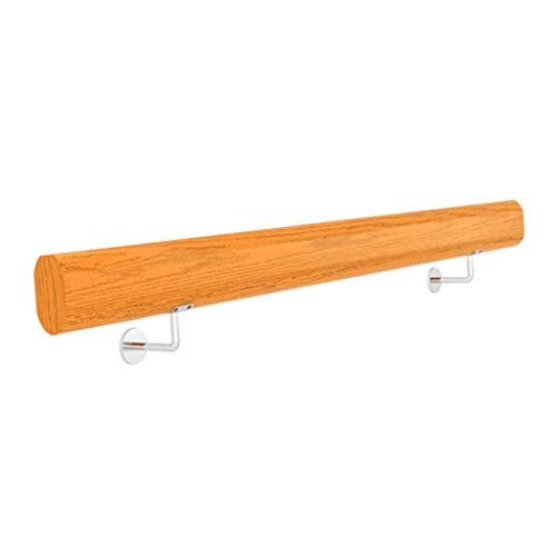 Kit barandilla escalera con soportes acero inoxidable Montado en la pared |Barandilla escalera madera para pasillo desván interior y exterior Kindergarten Hospital Loft |Kit soporte barandas para