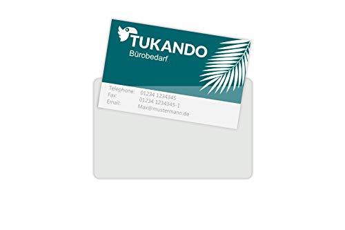 Fundas autoadhesivas para tarjetas de visita, transparentes, 100 o 20 unidades para tarjetas de visita de hasta 90 x 55 mm, color transparente