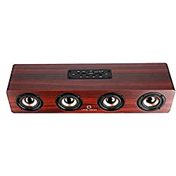 Live Tech Jalsa Wireless Wooden Speaker with Powerful Sound BS02 (Nut Brown),LIVE TECH,BS02